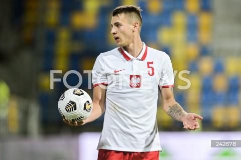 13.10.2020 GDYNIA<br />PILKA NOZNA - KWALIFIKACJE DO MISTRZOSTW EUROPY U-21<br />POLSKA - BULGARIA<br />Football - U-21 European Championships 2021 Qualifiers<br />Poland - Bulgaria<br />N/Z JAKUB KIWIOR SYLWETKA<br />