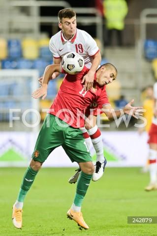 13.10.2020 GDYNIA<br />PILKA NOZNA - KWALIFIKACJE DO MISTRZOSTW EUROPY U-21<br />POLSKA - BULGARIA<br />Football - U-21 European Championships 2021 Qualifiers<br />Poland - Bulgaria<br />N/Z KAROL FILA ZDRAVKO DIMITROV<br />