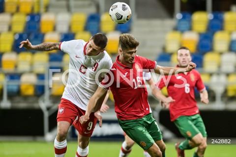 13.10.2020 GDYNIA<br />PILKA NOZNA - KWALIFIKACJE DO MISTRZOSTW EUROPY U-21<br />POLSKA - BULGARIA<br />Football - U-21 European Championships 2021 Qualifiers<br />Poland - Bulgaria<br />N/Z PATRYK KLIMALA PETKO HRISTOV<br />