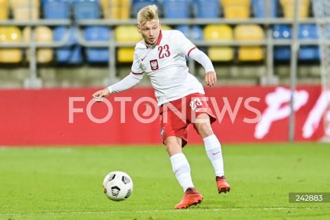 13.10.2020 GDYNIA<br />PILKA NOZNA - KWALIFIKACJE DO MISTRZOSTW EUROPY U-21<br />POLSKA - BULGARIA<br />Football - U-21 European Championships 2021 Qualifiers<br />Poland - Bulgaria<br />N/Z BARTOSZ BIDA SYLWETKA<br />