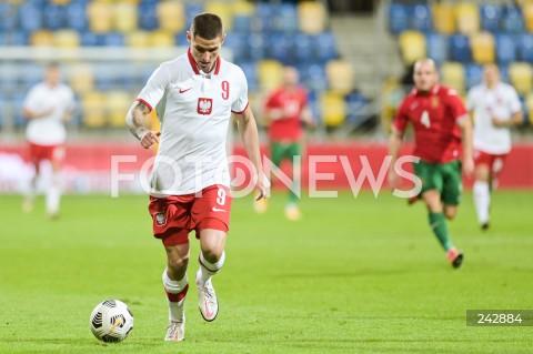 13.10.2020 GDYNIA<br />PILKA NOZNA - KWALIFIKACJE DO MISTRZOSTW EUROPY U-21<br />POLSKA - BULGARIA<br />Football - U-21 European Championships 2021 Qualifiers<br />Poland - Bulgaria<br />N/Z PATRYK KLIMALA SYLWETKA<br />