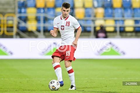 13.10.2020 GDYNIA<br />PILKA NOZNA - KWALIFIKACJE DO MISTRZOSTW EUROPY U-21<br />POLSKA - BULGARIA<br />Football - U-21 European Championships 2021 Qualifiers<br />Poland - Bulgaria<br />N/Z KAROL FILA SYLWETKA<br />
