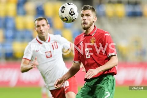 13.10.2020 GDYNIA<br />PILKA NOZNA - KWALIFIKACJE DO MISTRZOSTW EUROPY U-21<br />POLSKA - BULGARIA<br />Football - U-21 European Championships 2021 Qualifiers<br />Poland - Bulgaria<br />N/Z ANDREA HRISTOV<br />