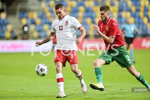 13.10.2020 GDYNIA<br />PILKA NOZNA - KWALIFIKACJE DO MISTRZOSTW EUROPY U-21<br />POLSKA - BULGARIA<br />Football - U-21 European Championships 2021 Qualifiers<br />Poland - Bulgaria<br />N/Z PATRYK KLIMALA ANDREA HRISTOV<br />
