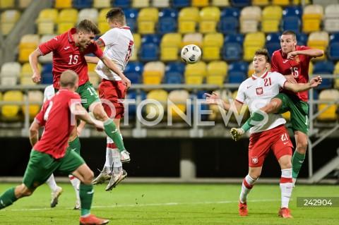 13.10.2020 GDYNIA<br />PILKA NOZNA - KWALIFIKACJE DO MISTRZOSTW EUROPY U-21<br />POLSKA - BULGARIA<br />Football - U-21 European Championships 2021 Qualifiers<br />Poland - Bulgaria<br />N/Z PETKO HRISTOV BARTOSZ BIALEK VALENTIN ANTOV<br />