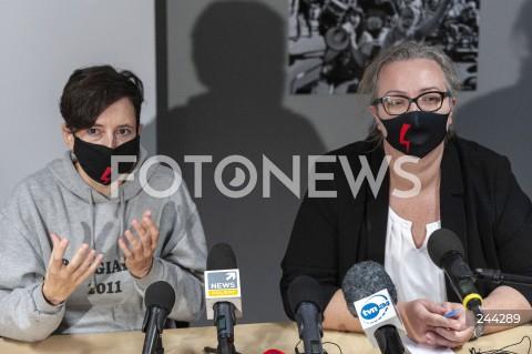 Konferencja liderek Strajku Kobiet w Warszawie