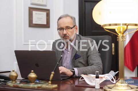 23.11.2020 WARSZAWA<br />ADAM NIEDZIELSKI - MINISTER ZDROWIA <br />SESJA FOTOGRAFICZNA <br />N/Z ADAM NIEDZIELSKI<br />