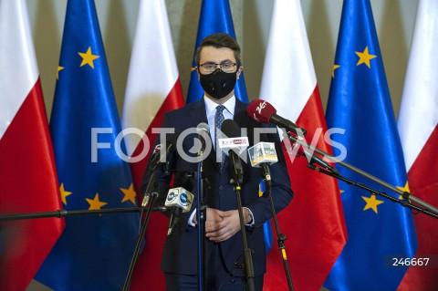 Konferencja rzecznika rządu po spotkaniu premierów Polski i Węgier w Warszawie