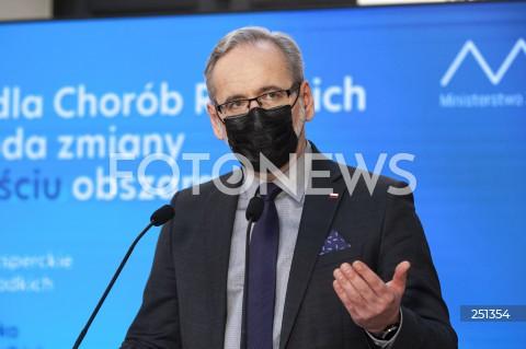Konferencja ministra zdrowia w Warszawie