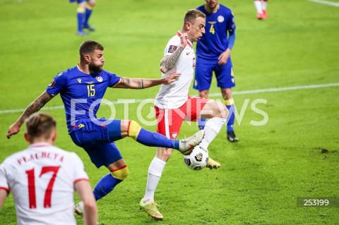 28.03.2021 WARSZAWA ( POLAND ) <br />PILKA NOZNA - ELIMINACJE DO MISTRZOSTW SWIATA 2022<br />FOOTBALL FIFA WORLD CUP 2022 QUALIFYING ROUND <br />MECZ POLSKA ( POLAND ) - ANDORA ( ANDORA ) <br />N/Z KAMIL GROSICKI SAN NICOLAS <br />