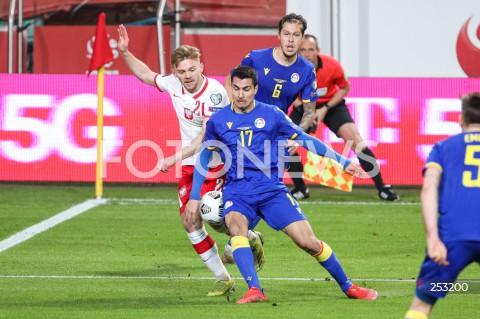 28.03.2021 WARSZAWA ( POLAND ) <br />PILKA NOZNA - ELIMINACJE DO MISTRZOSTW SWIATA 2022<br />FOOTBALL FIFA WORLD CUP 2022 QUALIFYING ROUND <br />MECZ POLSKA ( POLAND ) - ANDORA ( ANDORA ) <br />N/Z KAMIL JOZWIAK JOAN CERVOS ALBERT ALAVEDRA JIMENEZ <br />