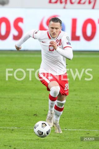 28.03.2021 WARSZAWA ( POLAND ) <br />PILKA NOZNA - ELIMINACJE DO MISTRZOSTW SWIATA 2022<br />FOOTBALL FIFA WORLD CUP 2022 QUALIFYING ROUND <br />MECZ POLSKA ( POLAND ) - ANDORA ( ANDORA ) <br />N/Z PIOTR ZIELINSKI SYLWETKA <br />