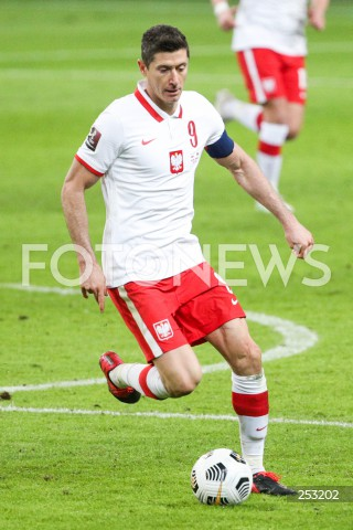 28.03.2021 WARSZAWA ( POLAND ) <br />PILKA NOZNA - ELIMINACJE DO MISTRZOSTW SWIATA 2022<br />FOOTBALL FIFA WORLD CUP 2022 QUALIFYING ROUND <br />MECZ POLSKA ( POLAND ) - ANDORA ( ANDORA ) <br />N/Z ROBERT LEWANDOWSKI SYLWETKA <br />