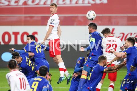 28.03.2021 WARSZAWA ( POLAND ) <br />PILKA NOZNA - ELIMINACJE DO MISTRZOSTW SWIATA 2022<br />FOOTBALL FIFA WORLD CUP 2022 QUALIFYING ROUND <br />MECZ POLSKA ( POLAND ) - ANDORA ( ANDORA ) <br />N/Z PAWEL DAWIDOWICZ <br />