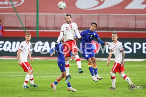 28.03.2021 WARSZAWA ( POLAND ) <br />PILKA NOZNA - ELIMINACJE DO MISTRZOSTW SWIATA 2022<br />FOOTBALL FIFA WORLD CUP 2022 QUALIFYING ROUND <br />MECZ POLSKA ( POLAND ) - ANDORA ( ANDORA ) <br />N/Z GRZEGORZ KRYCHOWIAK AARON SANCHEZ KAMIL PIATKOWSKI <br />