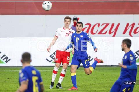 28.03.2021 WARSZAWA ( POLAND ) <br />PILKA NOZNA - ELIMINACJE DO MISTRZOSTW SWIATA 2022<br />FOOTBALL FIFA WORLD CUP 2022 QUALIFYING ROUND <br />MECZ POLSKA ( POLAND ) - ANDORA ( ANDORA ) <br />N/Z KRZYSZTOF PIATEK JOAN CERVOS <br />