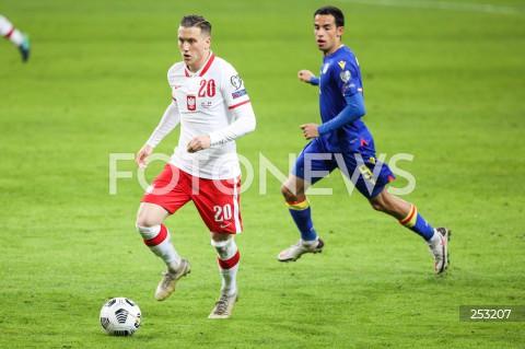 28.03.2021 WARSZAWA ( POLAND ) <br />PILKA NOZNA - ELIMINACJE DO MISTRZOSTW SWIATA 2022<br />FOOTBALL FIFA WORLD CUP 2022 QUALIFYING ROUND <br />MECZ POLSKA ( POLAND ) - ANDORA ( ANDORA ) <br />N/Z PIOTR ZIELINSKI AARON SANCHEZ <br />