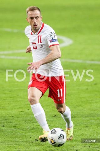 28.03.2021 WARSZAWA ( POLAND ) <br />PILKA NOZNA - ELIMINACJE DO MISTRZOSTW SWIATA 2022<br />FOOTBALL FIFA WORLD CUP 2022 QUALIFYING ROUND <br />MECZ POLSKA ( POLAND ) - ANDORA ( ANDORA ) <br />N/Z KAMIL GROSICKI SYLWETKA <br />
