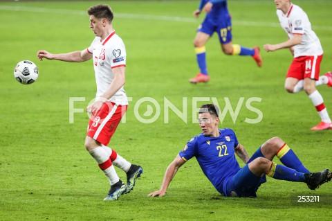 28.03.2021 WARSZAWA ( POLAND ) <br />PILKA NOZNA - ELIMINACJE DO MISTRZOSTW SWIATA 2022<br />FOOTBALL FIFA WORLD CUP 2022 QUALIFYING ROUND <br />MECZ POLSKA ( POLAND ) - ANDORA ( ANDORA ) <br />N/Z KRZYSZTOF PIATEK CHRISTIAN GARCIA <br />