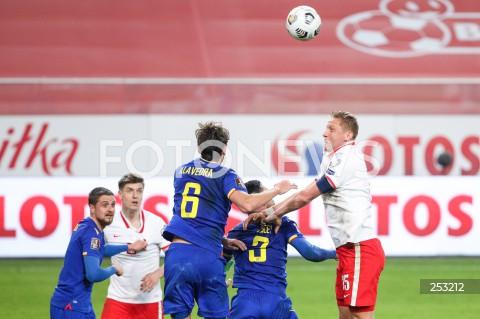 28.03.2021 WARSZAWA ( POLAND ) <br />PILKA NOZNA - ELIMINACJE DO MISTRZOSTW SWIATA 2022<br />FOOTBALL FIFA WORLD CUP 2022 QUALIFYING ROUND <br />MECZ POLSKA ( POLAND ) - ANDORA ( ANDORA ) <br />N/Z KAMIL GLIK ALBERT ALAVEDRA JIMENEZ KRZYSZTOF PIATEK <br />