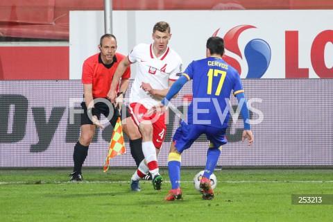 28.03.2021 WARSZAWA ( POLAND ) <br />PILKA NOZNA - ELIMINACJE DO MISTRZOSTW SWIATA 2022<br />FOOTBALL FIFA WORLD CUP 2022 QUALIFYING ROUND <br />MECZ POLSKA ( POLAND ) - ANDORA ( ANDORA ) <br />N/Z PAWEL DAWIDOWICZ JOAN CERVOS <br />