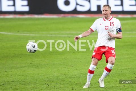 28.03.2021 WARSZAWA ( POLAND ) <br />PILKA NOZNA - ELIMINACJE DO MISTRZOSTW SWIATA 2022<br />FOOTBALL FIFA WORLD CUP 2022 QUALIFYING ROUND <br />MECZ POLSKA ( POLAND ) - ANDORA ( ANDORA ) <br />N/Z KAMIL GLIK SYLWETKA <br />
