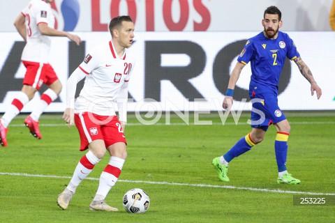 28.03.2021 WARSZAWA ( POLAND ) <br />PILKA NOZNA - ELIMINACJE DO MISTRZOSTW SWIATA 2022<br />FOOTBALL FIFA WORLD CUP 2022 QUALIFYING ROUND <br />MECZ POLSKA ( POLAND ) - ANDORA ( ANDORA ) <br />N/Z PIOTR ZIELINSKI <br />
