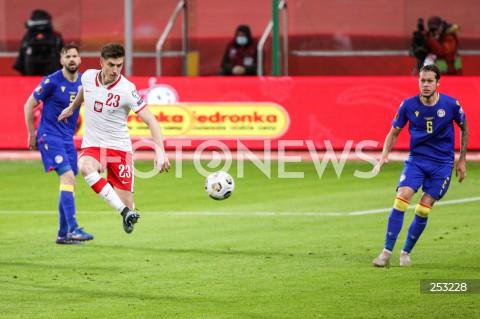 28.03.2021 WARSZAWA ( POLAND ) <br />PILKA NOZNA - ELIMINACJE DO MISTRZOSTW SWIATA 2022<br />FOOTBALL FIFA WORLD CUP 2022 QUALIFYING ROUND <br />MECZ POLSKA ( POLAND ) - ANDORA ( ANDORA ) <br />N/Z KRZYSZTOF PIATEK <br />
