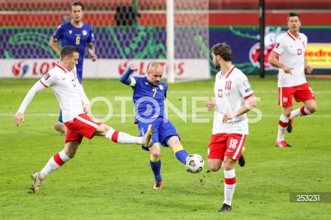 28.03.2021 WARSZAWA ( POLAND ) <br />PILKA NOZNA - ELIMINACJE DO MISTRZOSTW SWIATA 2022<br />FOOTBALL FIFA WORLD CUP 2022 QUALIFYING ROUND <br />MECZ POLSKA ( POLAND ) - ANDORA ( ANDORA ) <br />N/Z PIOTR ZIELINSKI MARC PUJOL <br />