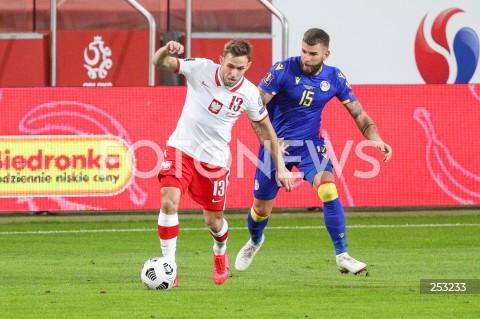 28.03.2021 WARSZAWA ( POLAND ) <br />PILKA NOZNA - ELIMINACJE DO MISTRZOSTW SWIATA 2022<br />FOOTBALL FIFA WORLD CUP 2022 QUALIFYING ROUND <br />MECZ POLSKA ( POLAND ) - ANDORA ( ANDORA ) <br />N/Z MACIEJ RYBUS SAN NICOLAS <br />