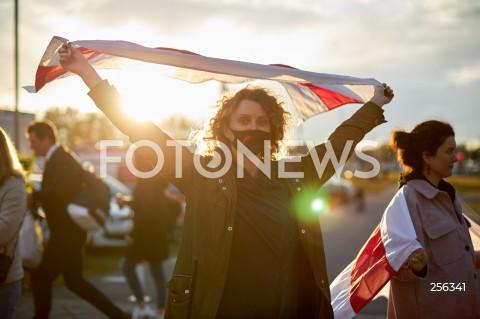 26.05.2021 GDANSK<br /> PROTEST WOLNA BIALORUS PRZED STADIONEM W GDANSKU<br /> N/Z PROTESTUJACY<br />