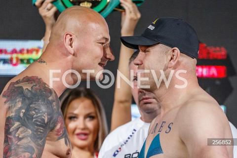 Ceremonia ważenia przed Knockout Boxing Night 15 w Rzeszowie