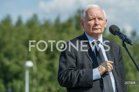Konferencja kandydatki na urząd prezydenta Rzeszowa Ewy Leniart i prezesa PiS Jarosława Kaczyńskiego w Rzeszowie