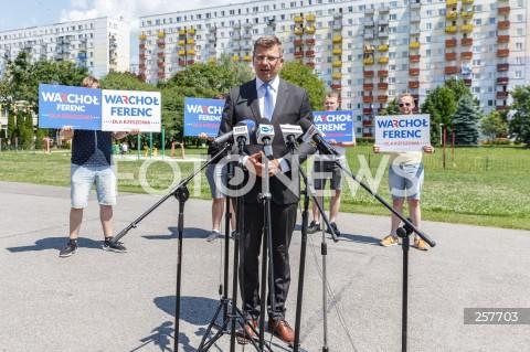 Konferencja kandydata na urząd prezydenta Rzeszowa Marcina Warchoła podsumowująca kampanię wyborczą w Rzeszowie