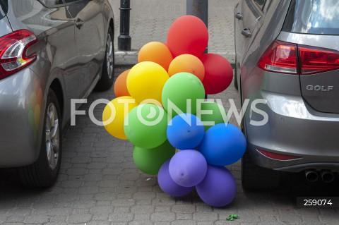 30.06.2021 WARSZAWA<br />PLAN ZDJECIOWY FILMU KRYPTONIM POLSKA<br />N/Z BALONY LGBT<br />