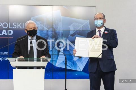 Podpisanie deklaracji współpracy między PiS a Republikanami w Warszawie