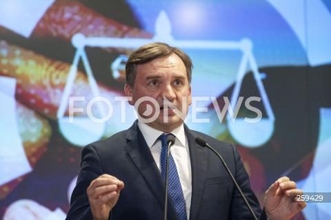 Konferencja ministra sprawiedliwości Zbigniewa Ziobro na GPW w Warszawie