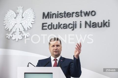 Konferencja ministra edukacji i nauki w Warszawie