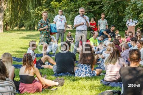11.07.2021 RZESZOW <br />PIKNIK EUROPEJSKI NOWEJ LEWICY NA RZESZOWSKICH BULWARACH<br />N/Z ROBERT BIEDRON JOANNA SCHEURING WIELGUS <br />