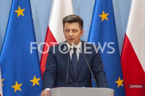 Konferencja w Kancelarii Premiera w Warszawie