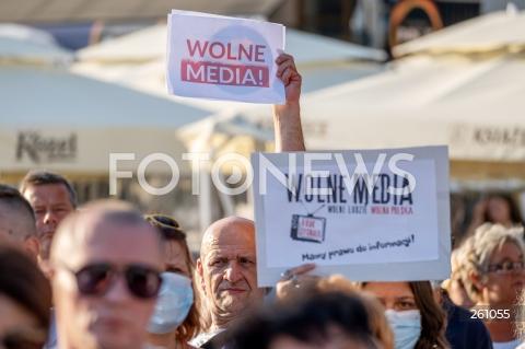 Ogólnopolski protest w obronie stacji TVN w Rzeszowie