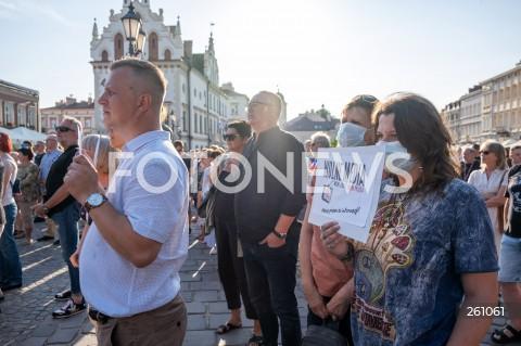 10.08.2021 RZESZOW <br />OGOLNOPOLSKI PROTEST W OBRONIE WOLNYCH MEDIOW I TVN NA RYNKU W RZESZOWIE<br />N/Z PROTESTUJACY<br />