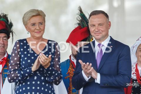 Dożynki Gminy Tarnów z udziałem Pary Prezydenckiej w Zbylitowskiej Górze