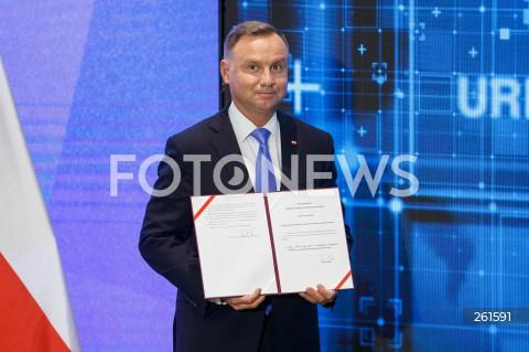 Podpisanie przez Prezydenta RP Andrzeja Dudę ustawy o wylesianiu w Stalowej Woli