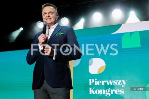 Kongres Ruchu Polska 2050 Szymona Hołowni w Warszawie