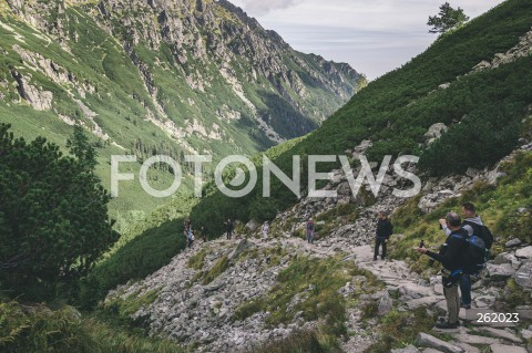05.09.2021 TATRY <br />TATRZANSKI PARK NARODOWY <br />N/Z TURYSCI NA SZLAKU <br />